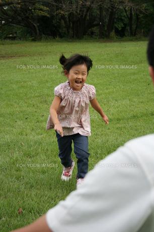 パパに駆け寄る女の子の写真素材 [FYI00325244]