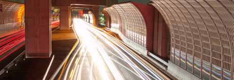 第二京阪道路の夜景の写真素材 [FYI00325435]