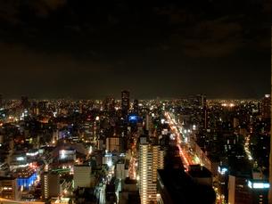 大阪平野の夜景の写真素材 [FYI00325446]