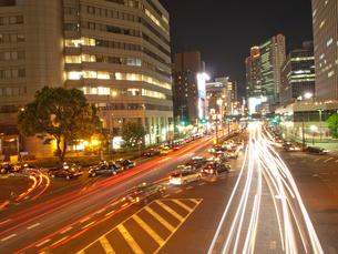 梅田新道の夜景の写真素材 [FYI00325450]