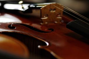 オールドフレンチ・ヴァイオリンのf字孔の写真素材 [FYI00325571]