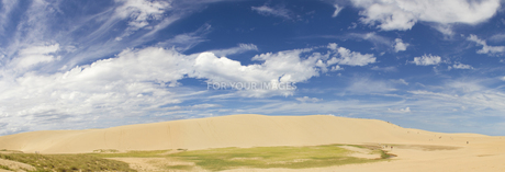 晴れの鳥取砂丘パノラマの素材 [FYI00327773]