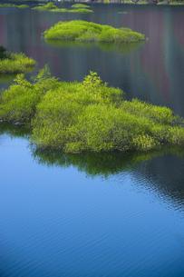 青空を映す湖面の写真素材 [FYI00328194]