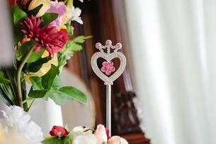 ハート型の飾り物の写真素材 [FYI00328327]