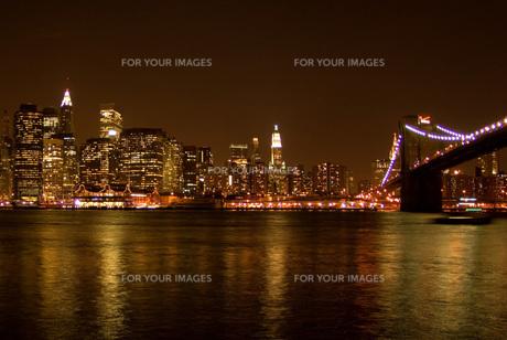 ニューヨーク夜景の写真素材 [FYI00328793]