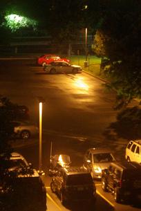 駐車場の夜景の写真素材 [FYI00328806]