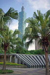 台北101の写真素材 [FYI00328880]