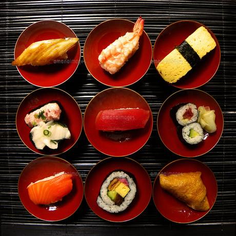 寿司9種の素材 [FYI00329309]