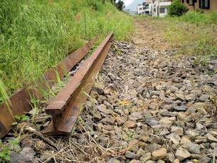 廃線のレール、名鉄美濃町線の写真素材 [FYI00329529]