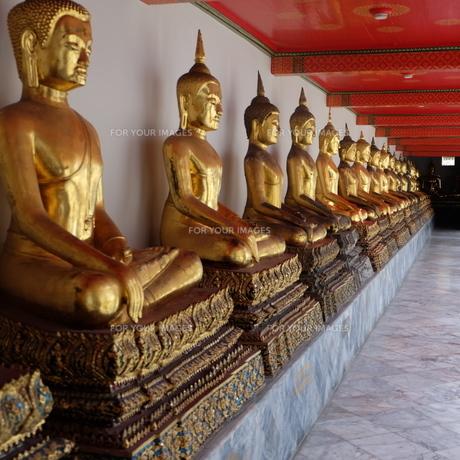 世界遺産ワットポーの仏像の写真素材 [FYI00332315]