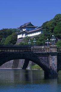 皇居に二重橋と伏見櫓の写真素材 [FYI00333539]