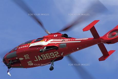 赤いヘリコプターの写真素材 [FYI00333622]