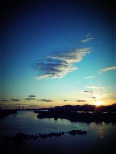 加古川の夕焼けの素材 [FYI00333672]