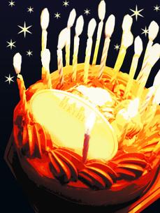 BIRTHDAY  CAKEの写真素材 [FYI00333871]