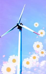 花と風車の写真素材 [FYI00333885]