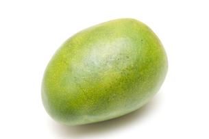 緑色のマンゴーの写真素材 [FYI00333910]