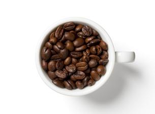 コーヒー豆とコーヒーカップの写真素材 [FYI00334112]
