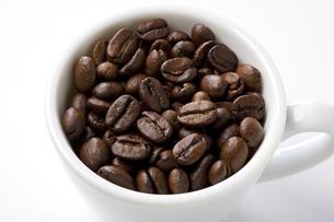 コーヒー豆とコーヒーカップの写真素材 [FYI00334127]