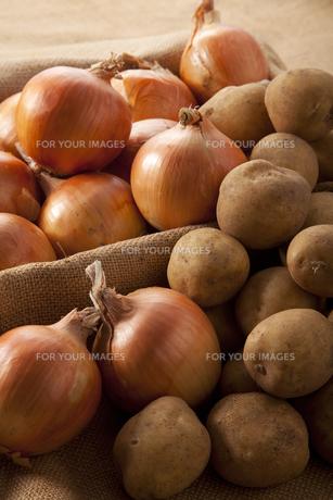 ジャガイモと玉葱の写真素材 [FYI00334253]