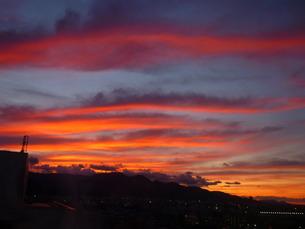 紅い波雲の写真素材 [FYI00334731]