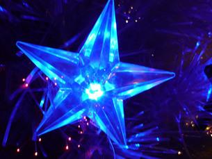 クリスマスの星の写真素材 [FYI00334737]