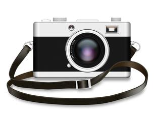 カメラ-ストラップ付きの写真素材 [FYI00334922]