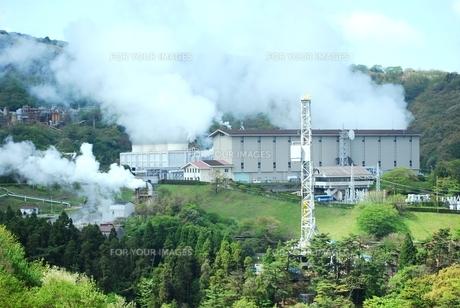 地熱発電所の写真素材 [FYI00334973]
