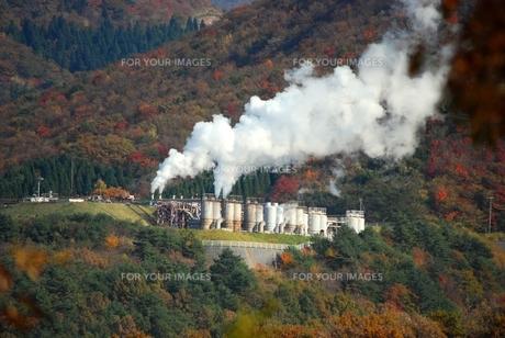 地熱発電所の写真素材 [FYI00335048]