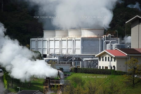 地熱発電所の写真素材 [FYI00335124]