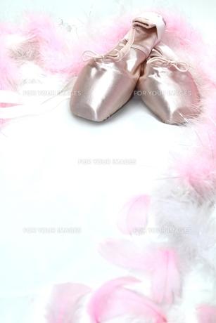 トウシューズ ピンク羽有り 縦の写真素材 [FYI00335219]