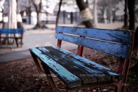 佇むベンチの写真素材 [FYI00335226]