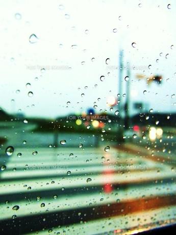 雨の横断歩道の素材 [FYI00335612]