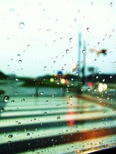 雨の横断歩道の写真素材 [FYI00335612]