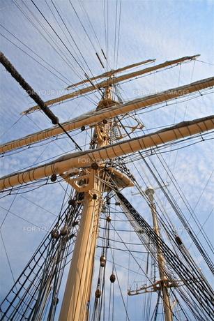 帆船のマストの写真素材 [FYI00335648]