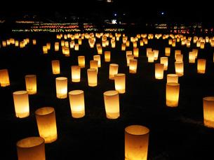 奈良燈火会の写真素材 [FYI00335722]
