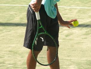 テニスのサービスの素材 [FYI00335806]