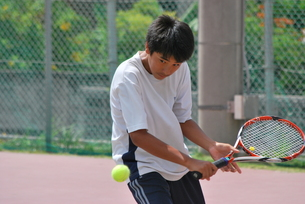 テニスプレーヤーの素材 [FYI00335958]