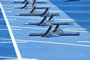 陸上競技 スターティングブロックの写真素材 [FYI00335966]