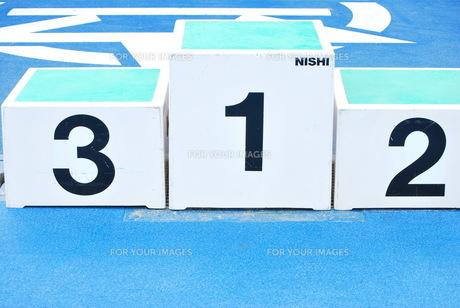 陸上競技 表彰台の写真素材 [FYI00335980]