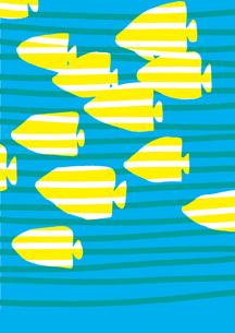 魚群 ストライプの写真素材 [FYI00336063]