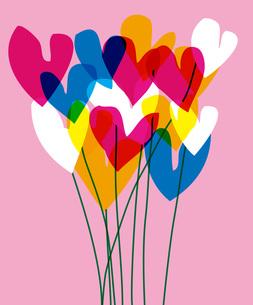 ハートの花束の写真素材 [FYI00336072]