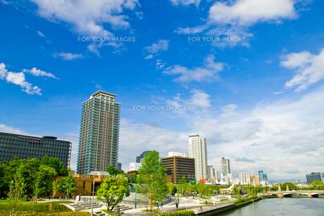 中之島の青空の写真素材 [FYI00336327]