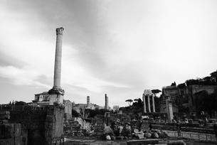 モノクロのフォロ・ロマーノ(イタリア・ローマ)の写真素材 [FYI00336544]