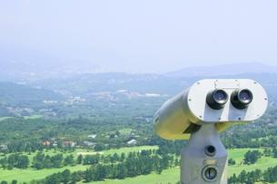 山頂から下界を望むの写真素材 [FYI00336605]