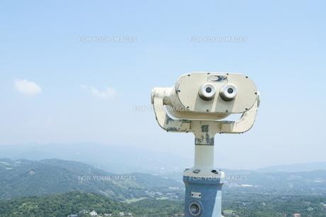 山頂から下界を望むの写真素材 [FYI00336608]