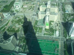台北101の影の写真素材 [FYI00336666]
