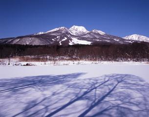 厳冬のイモリ池の写真素材 [FYI00336705]