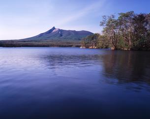 初夏の大沼と駒ケ岳の素材 [FYI00336790]