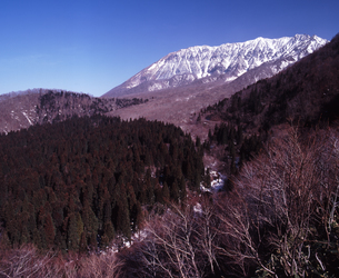 春の大山南壁の写真素材 [FYI00336894]