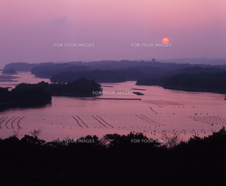 英虞湾の夕日の写真素材 [FYI00336908]